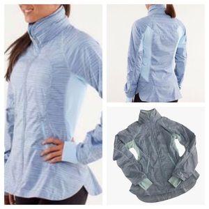 LULULEMON Athletica Run Make A Break Jacket Size 6